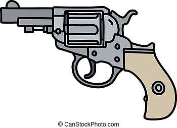 The steel short revolver