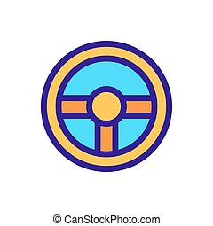 the steering wheel is an icon vector. Isolated contour symbol illustration