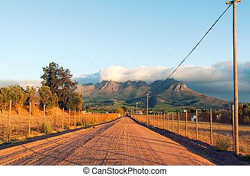 The Stellenbosch wine lands region near Cape Town.