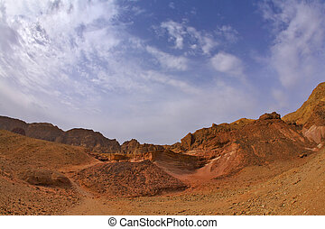 The stone desert in mountains of Israel