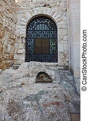 The stone in the garden of Gethsemane