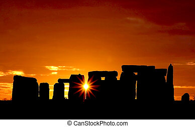 Stonehenge -  The Stonehenge Monument at Dawn