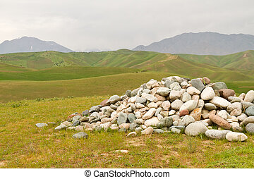 The stones in mountains.