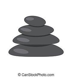 The stones on white background. Vector illustration EPS 10.