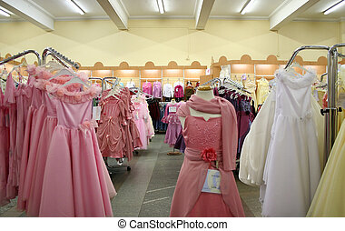 the store of the woman's dress