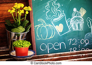 store open time with nice flower and cute picture