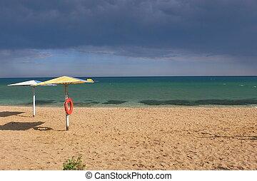 The Storm on the Beach