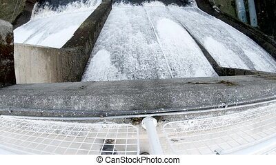 The Storr Lochs hydroelectric power station nestled under...