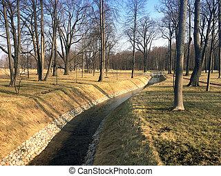 The stream in spring park