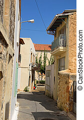 The street in the old part of Malia.