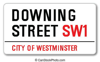 The street name sign from Downing Street South West One... The home of the British Prime Minister.