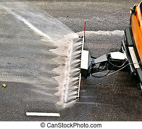 the street sprinkler