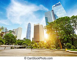 The streets of Hong Kong - China, Hong Kong Plaza streets...