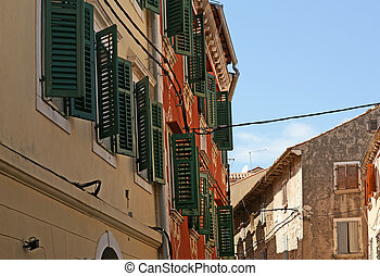 The streets of the old town of Rovinj--city in Croatia situated on the north Adriatic Sea with a population of 13562