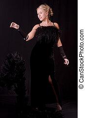 The Striptease Series - Beautiful Blonde in Black Velvet...