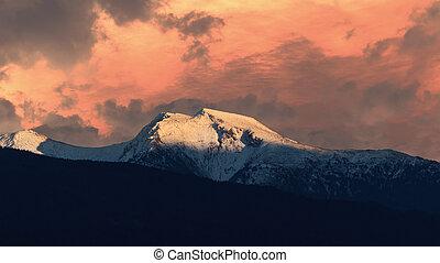 The Stubai Alps near Schoenberg, Austria, Tyrol