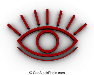 The stylised eye on a white background