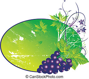 The stylised grapes - The stylised cluster of grapes with...