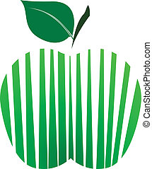 The stylized green apple