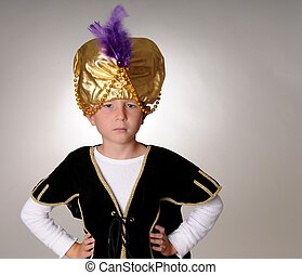 The Sultan - Young boy wearing a Sultan or Shiek\'s...