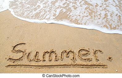 The Summer on the beach.