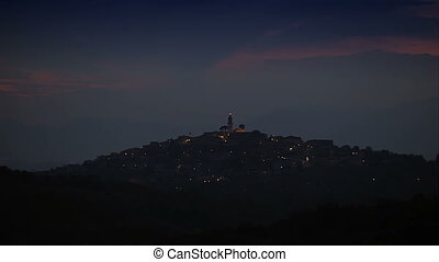 The night landscape of Italy - The summer sky of Italy, The...