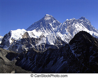 Mt Everest - The summit of Mt Everest on a clear day
