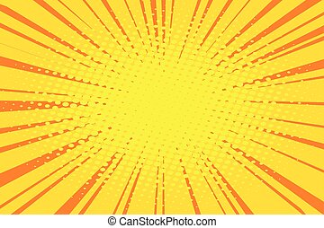 The sun comic book retro pop art background