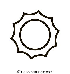 The sun icon in trendy flat style isolated. Eps 10.