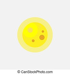 The sun icon, weather. Yellow silhouette. Vector