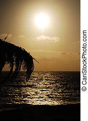 The sun on black sea