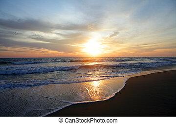the sun rise in the north carolina