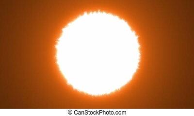 the Sun, seamless looping animation