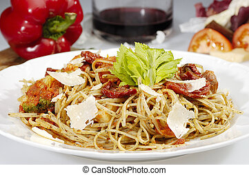 The sundried tomato w pasta
