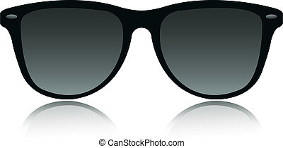 sunglasses vector - the sunglasses vector isolate on white...
