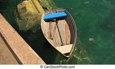 The sunken boat, Maldives.