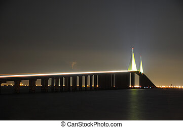 The Sunshine Skyway Bridge over Tampa Bay Florida