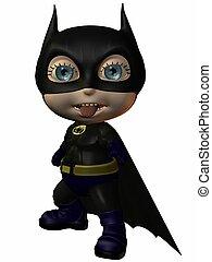 The Super Hero - 3D Render of an Toonimal Figure