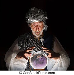 The Swami - Swami gazing into a crystal ball