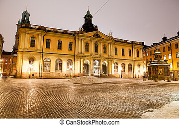 The Swedish Academy. Also Nobel Museum and Nobel Library