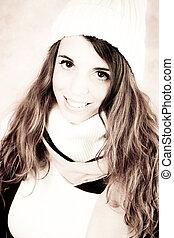 the sweet girl - sweet girl in winter clothing
