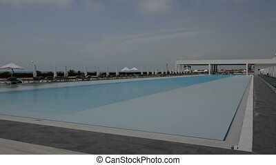 The swimming pool at the hotel