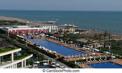 The swimming pools near beach