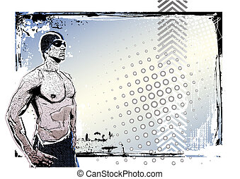 illustration of the swimmer