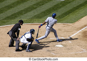 The swing - batter in action
