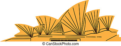 the sydney opera house isolated on white summertime vacations and traveling symbol eps 10 vector eps vector csp20805245 - 20+ Sydney Opera House Images Clipart  Pictures
