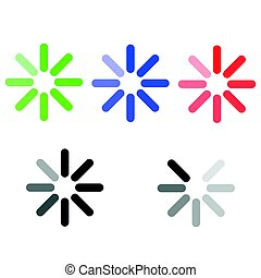 The symbol loading green blue red grey.