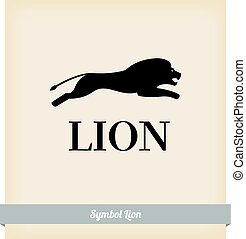 The symbol of a lion jump. Vector. Template design