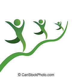 business career growth - the symbol of business career ...
