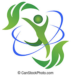 the symbol of Healthy and natural life logo on white background